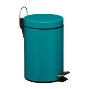 Turquoise Bathroom Trash Can Premier Turquoise Stainless Steel Pedal Bin 0506429