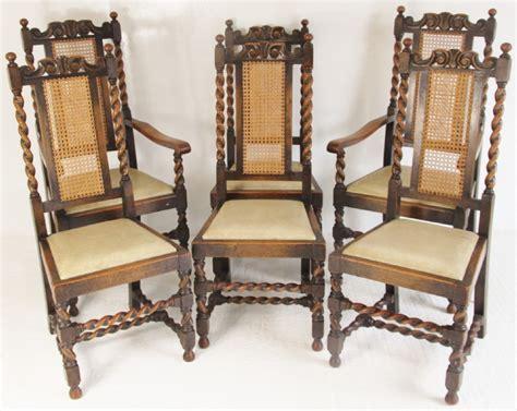 Barley Twist Chair by Set Of 6 Oak Carolean Barley Twist Dining Chairs 278711