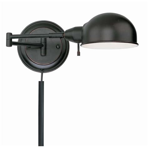 swing arm light wall mount shop lite source 6 25 in h copper swing arm wall mounted