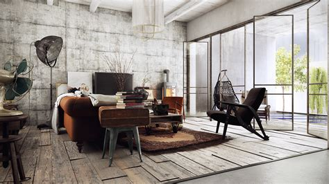 industrial house interior vintage industrial house on behance