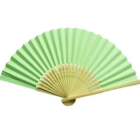 Paper Folding Fans - cheap orange bamboo paper folding fans wedding