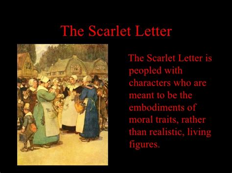 Scarlet Letter Character Qualities The Scarlet Letter