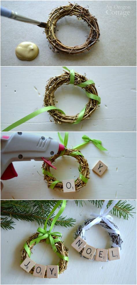 diy wreaths with ornaments diy scrabble tile grapevine wreath ornament