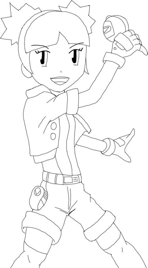 pokemon ranger coloring pages pokemon ranger girl lineart by ben10upvine on deviantart