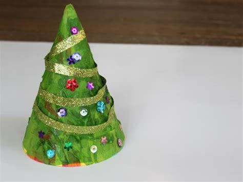diy christmas tree hat kids craft allfreejewelrymaking com