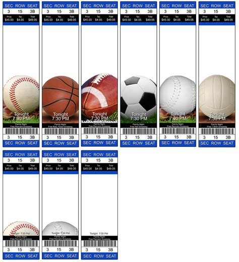 sport ticket template sports ticket home