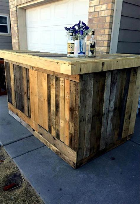 dyi bar diy pallet outdoor bar 101 pallets