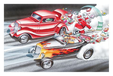 Summit Racing Gift Card - christmas drag race greeting cards set of 10 x887 free shipping on orders over 99