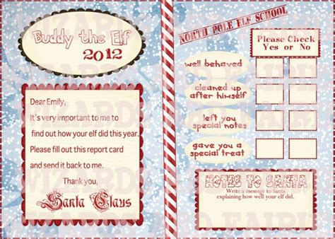 on the shelf report card template printable on the shelf report card on the
