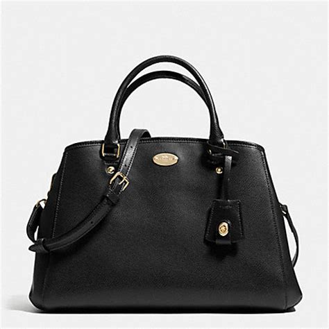 Coach Small Margot Carryall Black small margot carryall in leather f34607 light gold black coach handbags backpacks