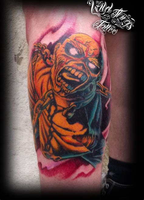 iron clad tattoo iron maiden tattoos eddie tattoos