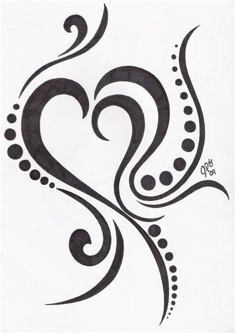 tribal tattoo heart designs tribal design tattooshunt