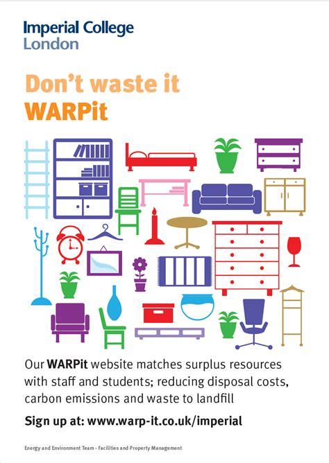 Imperial College Letterhead warp it waste reuse portal