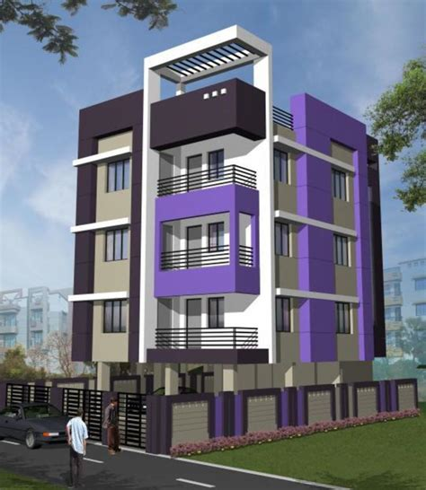 residential building elevation flats for sale for g 3 storied residential building at