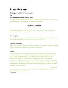 Press Release Templates Free by 47 Free Press Release Format Templates Exles Sles