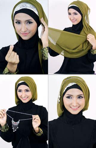 tutorial hijab pesta segi empat 2015 tutorial berhijab segiempat anggun dan elegan untuk pesta