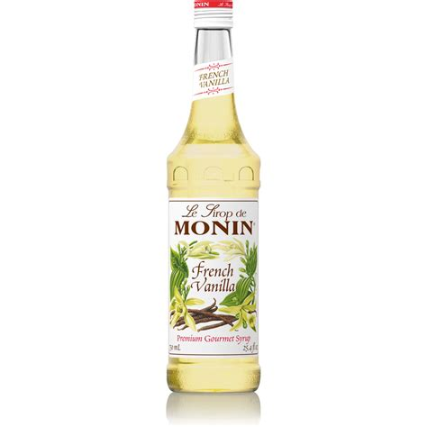 Monin French Vanilla Syrup   750 ml Bottle(s), 1 Liter Bottle(s): BaristaProShop.com