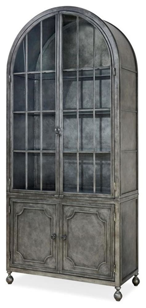 metal and wood curio cabinet maison french industrial metal curio display cabinet