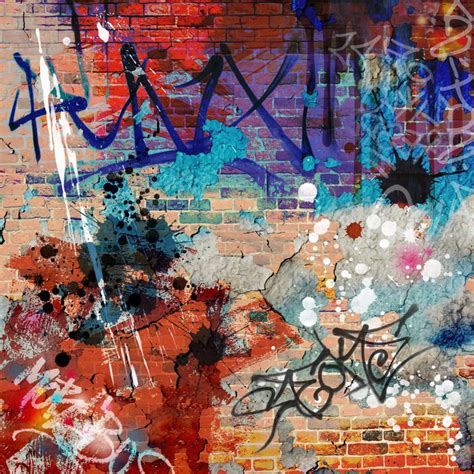 graffiti vinyl wallpaper a messy graffiti wall background wall mural pixers 174 we