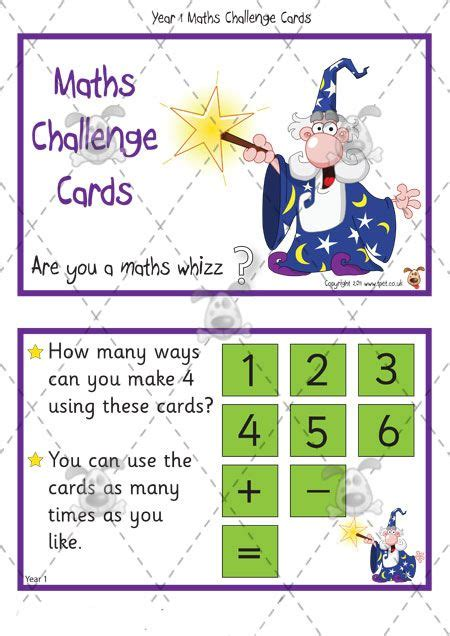 printable numeracy games ks1 teacher s pet year 1 maths challenge cards pack 1