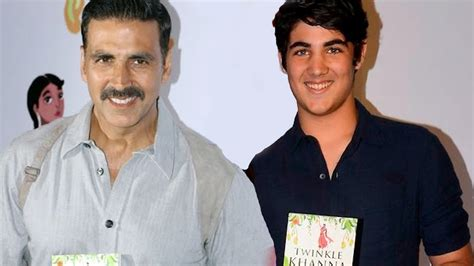 Akshay Kumar With His HANDSOME Son Aarav Kumar @ Twinkle's ...