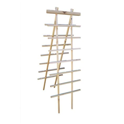 gronomics 24 in w x 72 in h wood ladder trellis kit lt