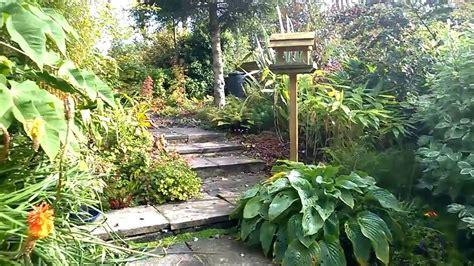 tropical garden  england september  youtube