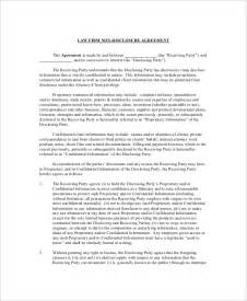 8 non disclosure and confidentiality agreement templates