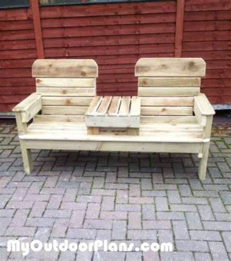 diy patio double chair bench myoutdoorplans