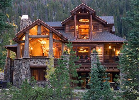 custom log homes and glass forests the combo of the