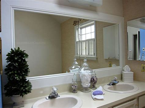 bathroom mirror framing how to frame a bathroom mirror pinterest framed