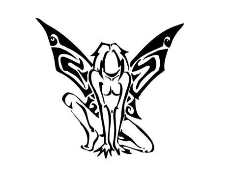 sitting fairy tattoo designs tribal sitting in savage pose design