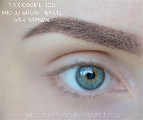 Nyx Eyebrow Powder Pencil Ash Brown nyx brow products frame and micro brow pencil la poudre