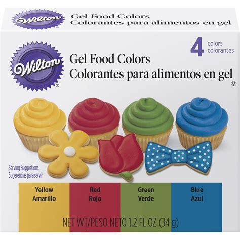 wilton food coloring primary gel food colors set wilton