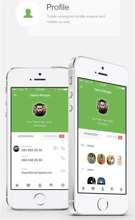 layout app ios 8 mobile app design inspiration whatsapp redesign for ios