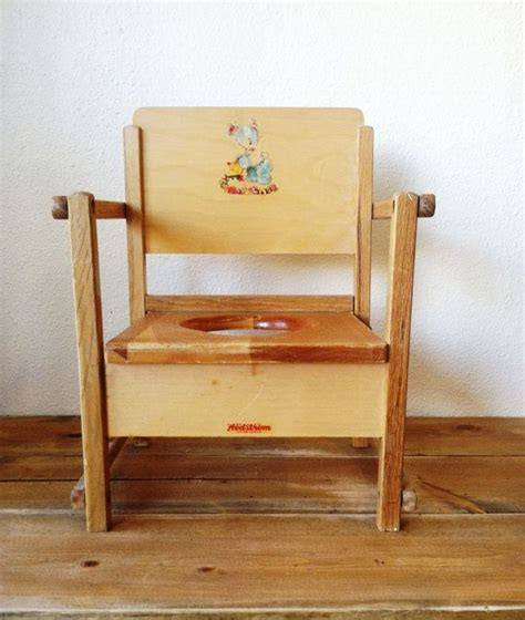 Wood Potty Chair by Vintage Wooden Baby Toddler Child Potty Chair 1940 S I This