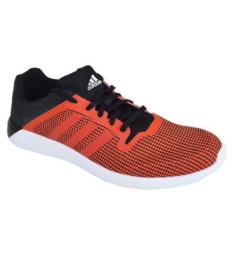 adidas orange and black climachill fresh 2 running shoes