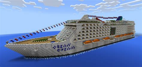 minecraft u boat map ocean dream cruise ship creation minecraft pe maps