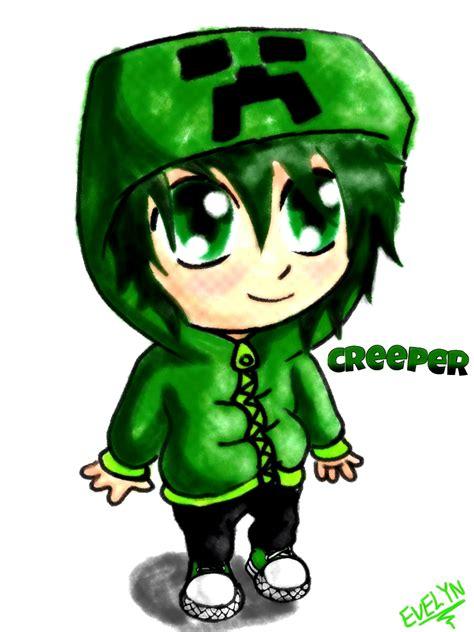 imagenes anime de minecraft minecraft creeper arte dibujo imagen evynyan