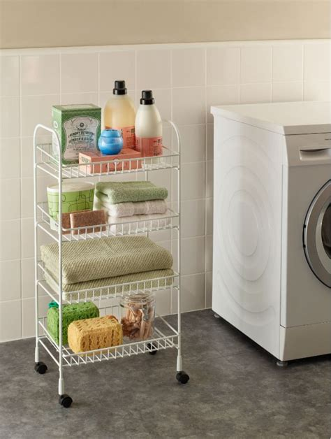 Add Storage To Your Laundry Room No Installation Required Laundry Room Storage Cart