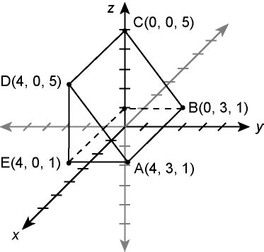 Process Prism by Find The Volume Of The Triangular Prism Shown In The Diagram The Unlabeled Point Is F 0 0 1