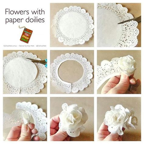 How To Make Flowers Out Of Paper Doilies - 1000 images about recycled crafts various recycled