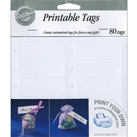 Wilton Rectangle Favor Tags Sweet Hearts White 80 Ct 1008 630 Walmart Com Wilton Print Templates