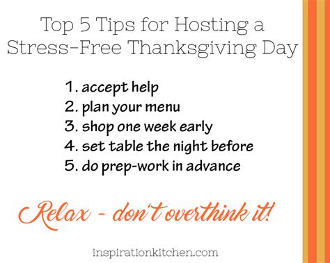 6 Tips For A Stress Free Thanksgiving by Top 5 Tips For Hosting A Stress Free Thanksgiving Day
