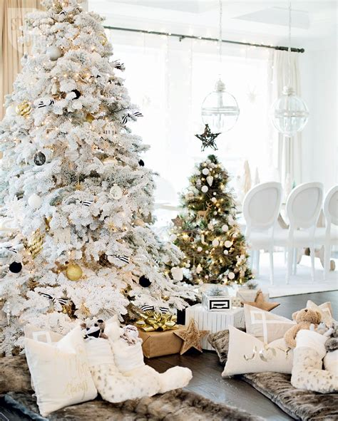 Christmas Decorations Luxury Homes house tour a white and gold christmas morning style at home