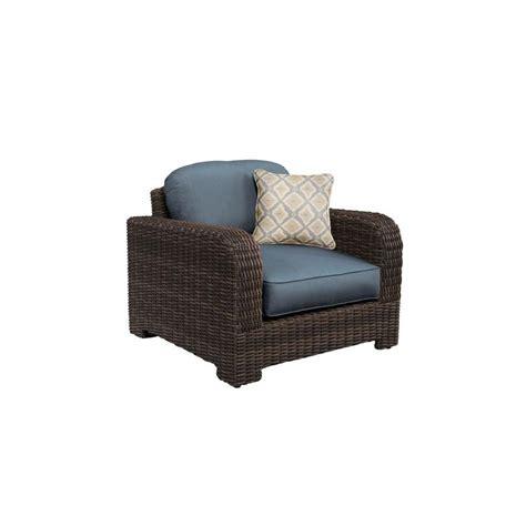 Brown Jordan Northshore Patio Lounge Chair with Denim
