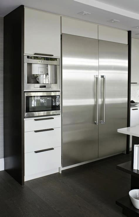 kitchen floor to ceiling cabinets built in coffee machine contemporary kitchen croma