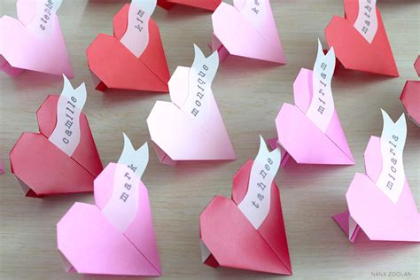 Origami Name Card - origami wedding ideas and inspiration