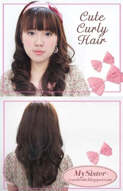tutorial rambut wavy my lovely sister a blog with love tutorial cute curly
