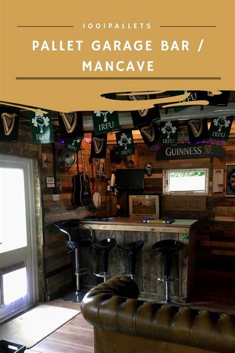 wood pallets   garage bar man cave  pallets